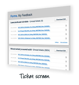 Ticket screen
