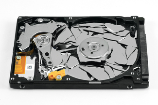 Broken hard disk (HDD)