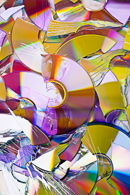 Broken compact disks (CD)