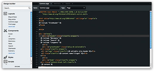 Edicy design editor syntax highlighting