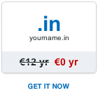 Free .in domain name
